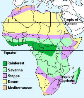 African Savanna Biome Map